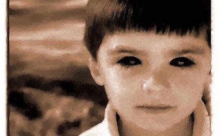 Crianças de olhos negros